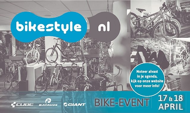 Bike event Bikestyle vrijdag 17 en zaterdag 18 April